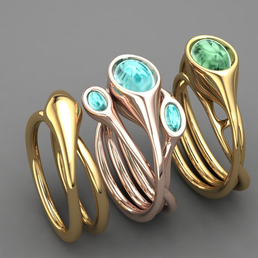 Moulded Organic Rings by Greta Kaniok, made in Clayoo