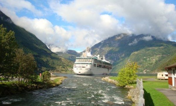 Vision of the Seas and Geirangerfjord in Norway. Feels like you're on set filming the Lord of the Rings!